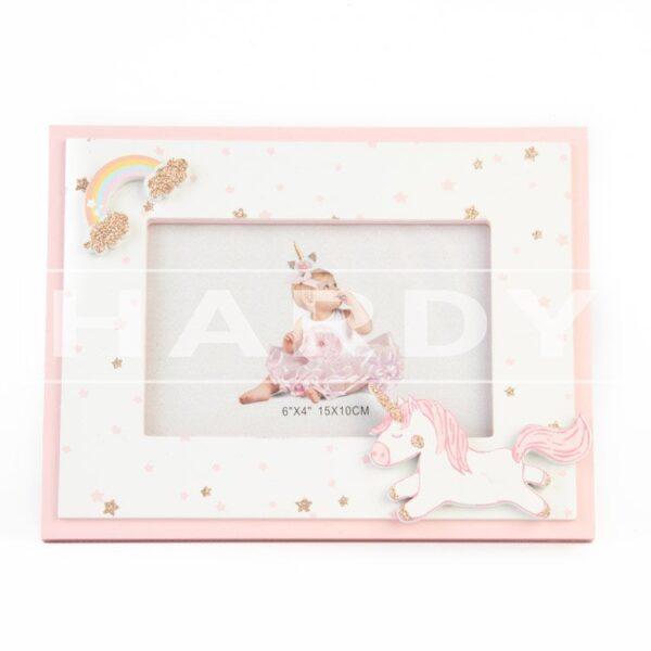 Eenhoorn roze 22.5 x 18 cm