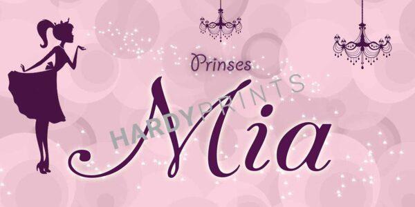 My-Canvas 'Prinses licht roze' met je eigen naam