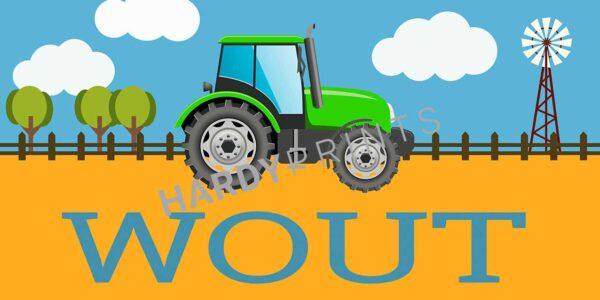 My-Canvas 'Tractor groen' met je eigen naam