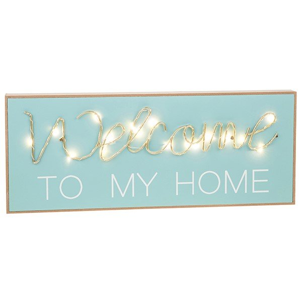 Welcome to my Home - tekstbord met licht
