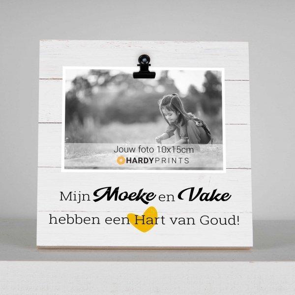 fotoblok met tekst en foto Moeke en Vake