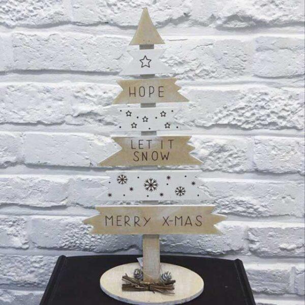 kerstdecoratie - kerstmis - kerstboompje in hout