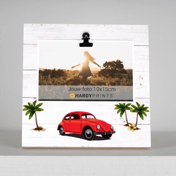 Fotoblok Kever rood - volkswagen - retro - fotokader