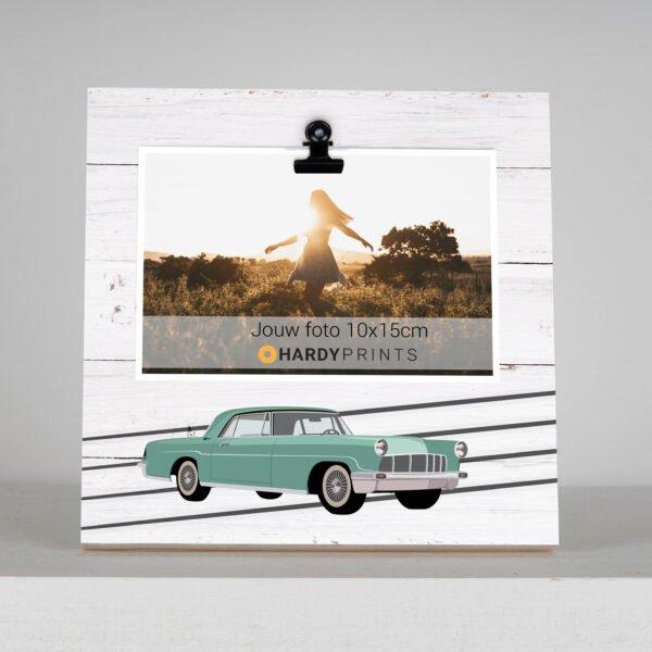 oldtimer - fotoblok - fotokader - decoratie geschenk voor papa