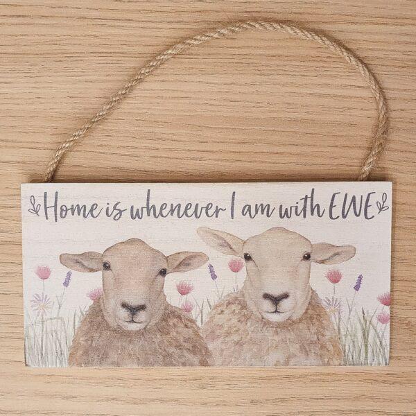 houten tekstplaatje country - dieren - decoratie