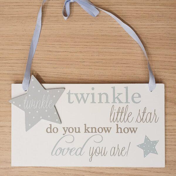 twinkle twinkle little start - tekstplaatje