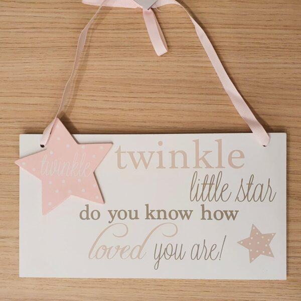 twinkle twinkle little start - tekstplaatje - kinderkamer