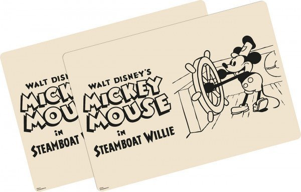 placemat Steamboat Willie Mickey Mouse Disney