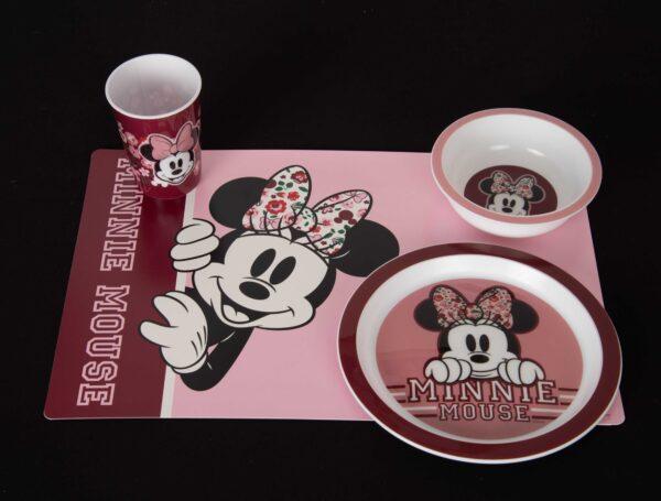Minnie Mouse eetset placemat, beker, kom en bord